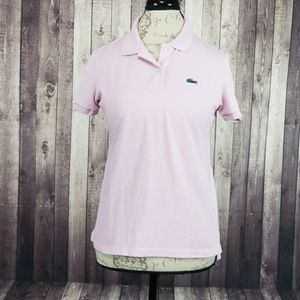 Lacoste for J. Crew light pink classic polo shirt